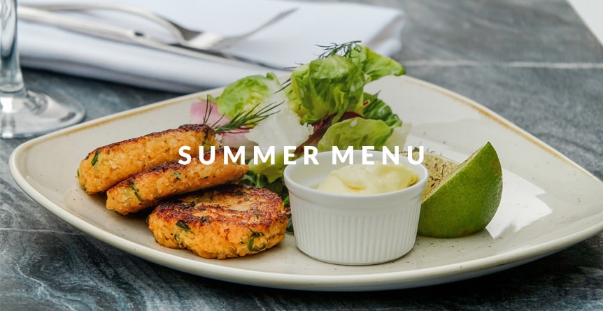New Summer Menu Launch at The Carpenters Arms - An image of crab cakes from our new menu